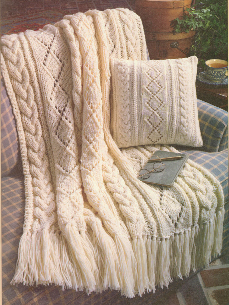 Knitting Pattern Aran Wool : Beautiful Aran Diamonds 14