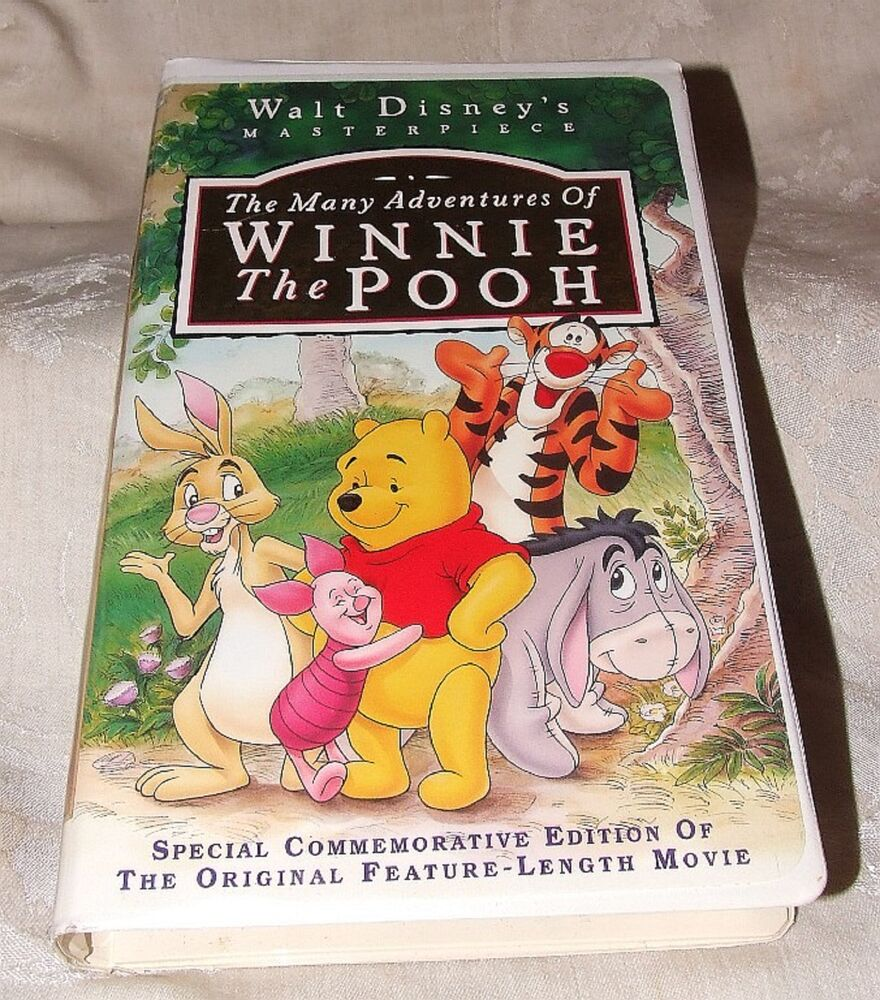 1996 VHS Tape The Many Adventures of Winnie the Pooh Walt ...