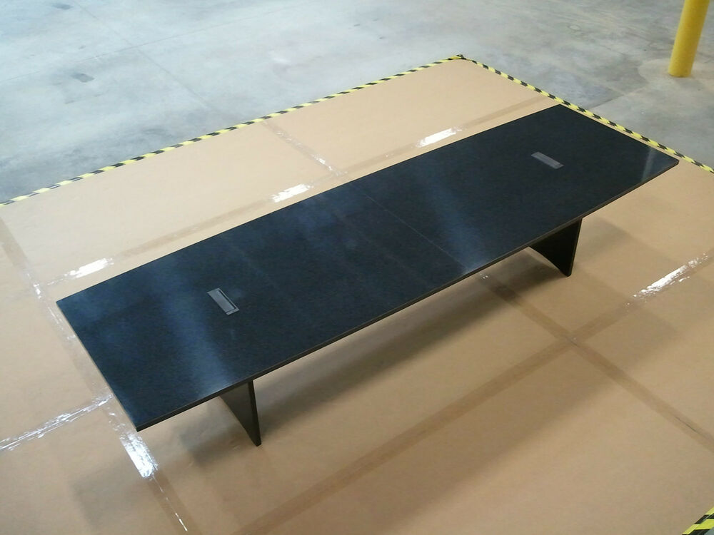 12ft conference table with power and data ports ebay