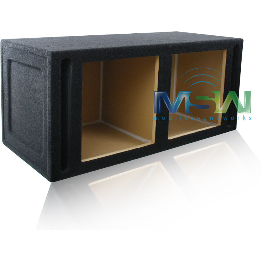 15 vented mdf subwoofer enclosure box for 2 kicker for Box subwoofer in vetroresina
