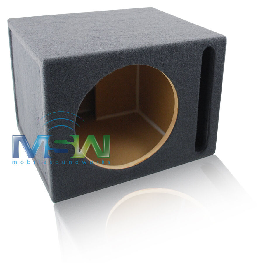 Vented mdf subwoofer enclosure box for single 12 round for Box subwoofer in vetroresina