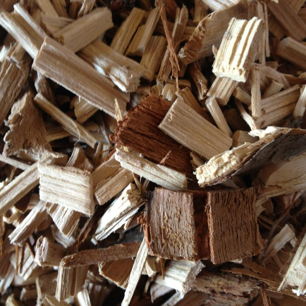 Almond apple oak or cherry wood chips smoking and bbqing