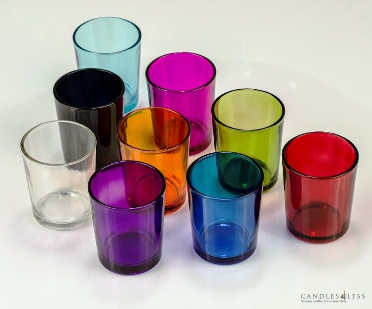 Colored Glass Votive Holders 1 Dozen Choose From 9