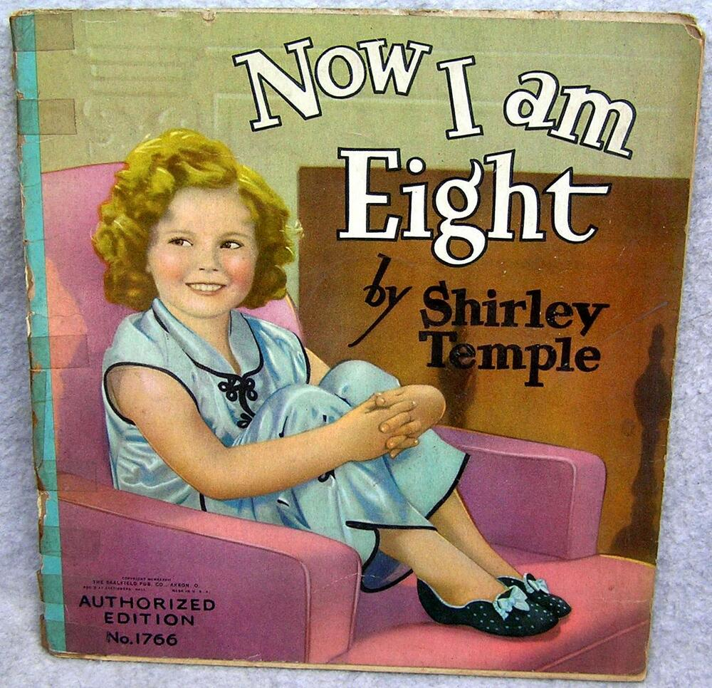 Details about Shirley Temple Now I Am Eight No. 1766 Softcover 1937  Saalfield