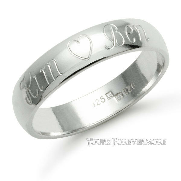 personalized promise ring name ring sterling silver any
