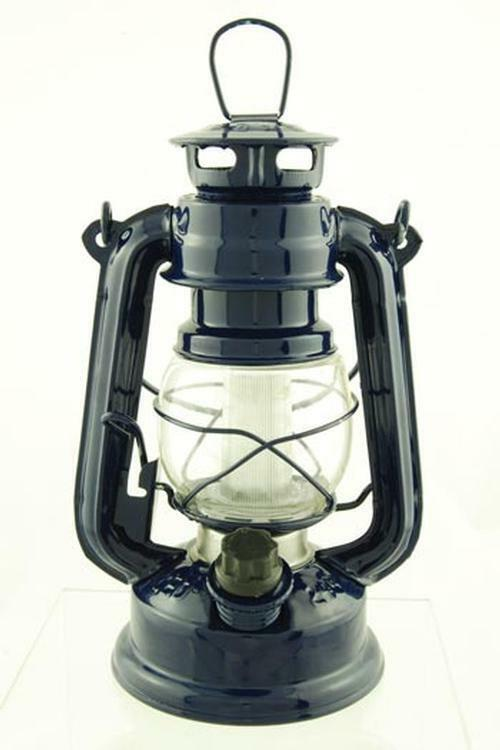 Hurricane LED Lantern Rustic Lamp 7.5