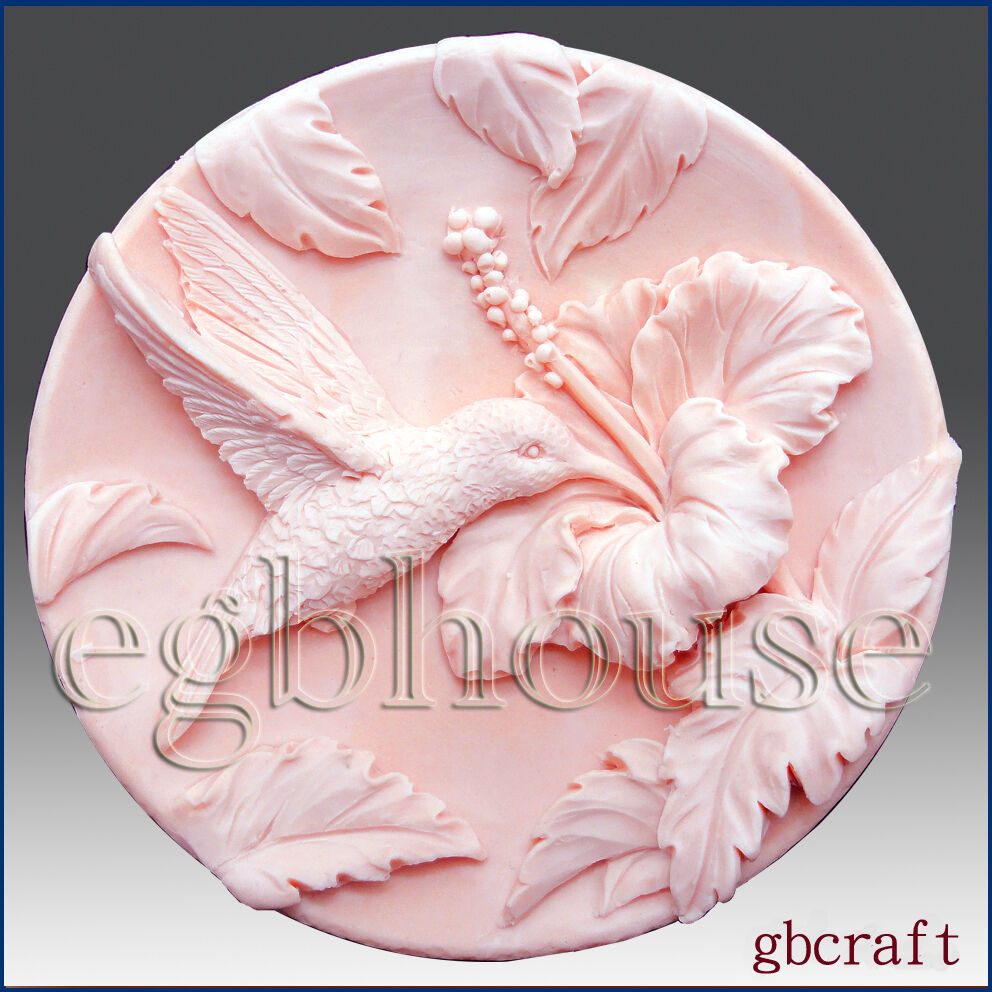 2d silicone soap mold hummingbird in hibiscus garden ebay - What to do about mold ...