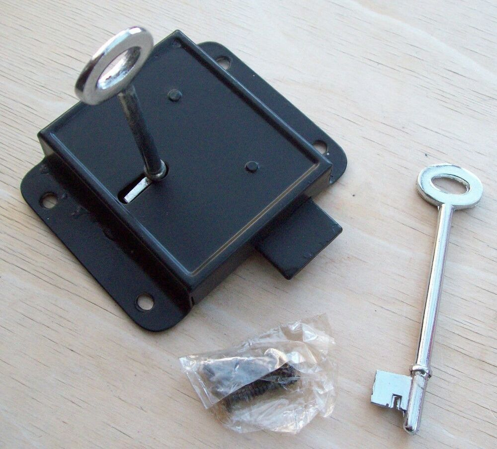 Press Dead Lock Black 3 Quot For Shed Doors Gates Cupboards