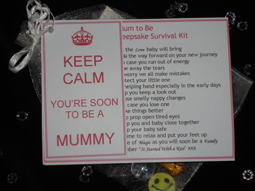 mum to be dad to be novelty keepsake survival kit gift card for baby shower ebay. Black Bedroom Furniture Sets. Home Design Ideas