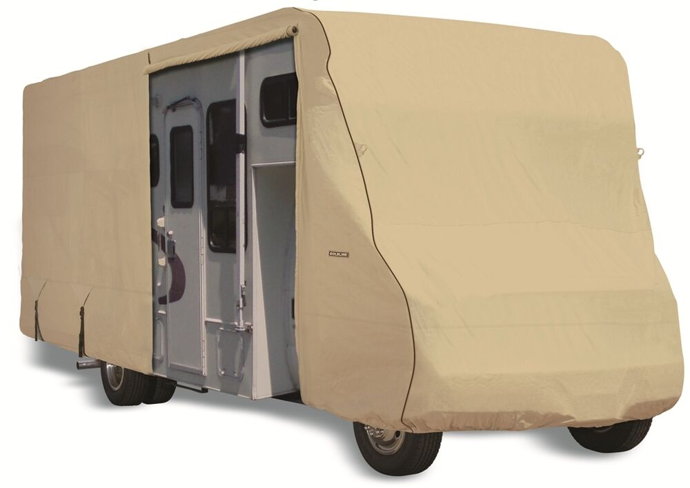 Goldline Rv Trailer Class C Cover Fits 24 To 26 Foot Tan Ebay