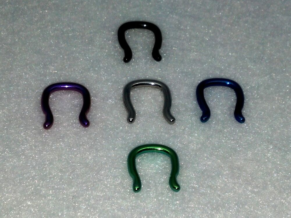 New Surgical Steel Septum Retainer Ring In Differtent