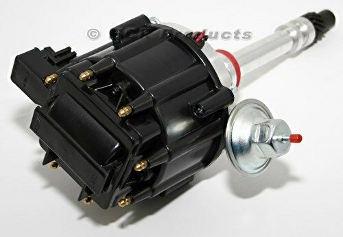 Sbc Chevy Hei Distributor 50k Ignition Black Cap 305 350