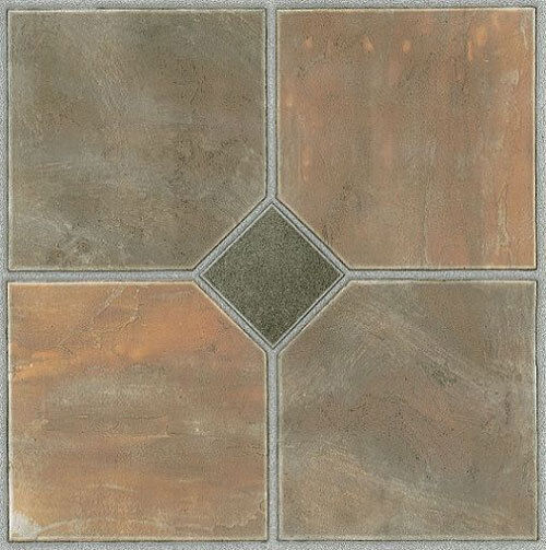 self stick tiles rustic slate self stick adhesive vinyl floor tiles 28907