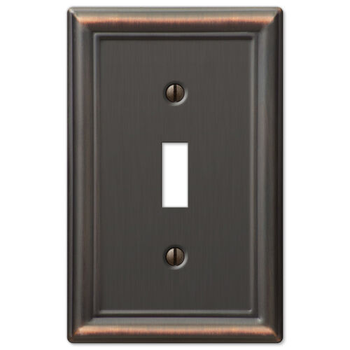 Metal Electrical Outlet Covers Oversized Outlet Covers: Chelsea Anitque Bronze Metal Switchplate Wall Plate Covers