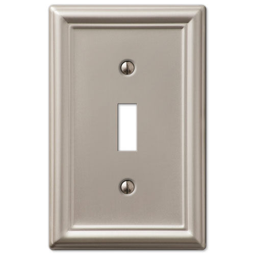 Light Switch Plate Cover: Chelsea Brushed Satin Nickel Switchplate Wall Plate Covers