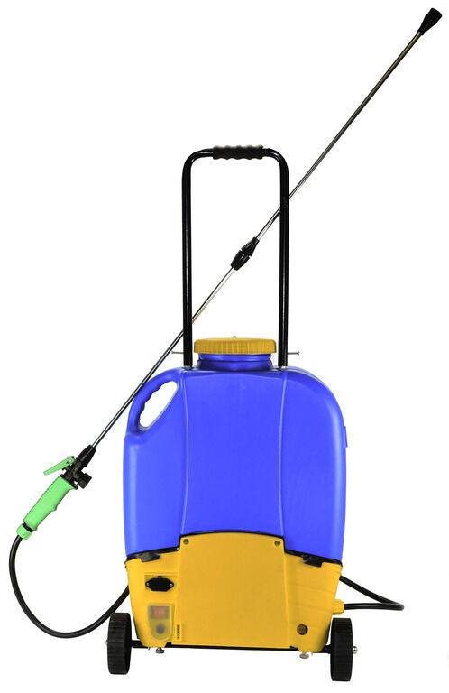 16l Rechargeable Battery Backpack Weed Sprayer With Wheels Electric Garden 240v Ebay
