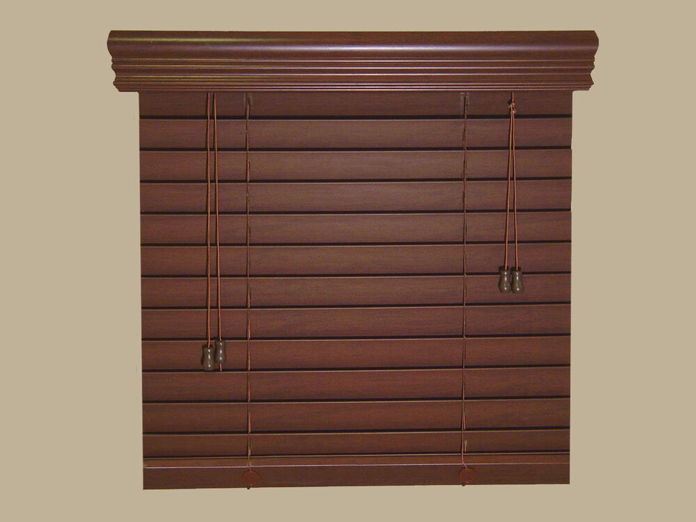 2 faux wood blinds size 71 w x 60 l stain colors for What is faux wood