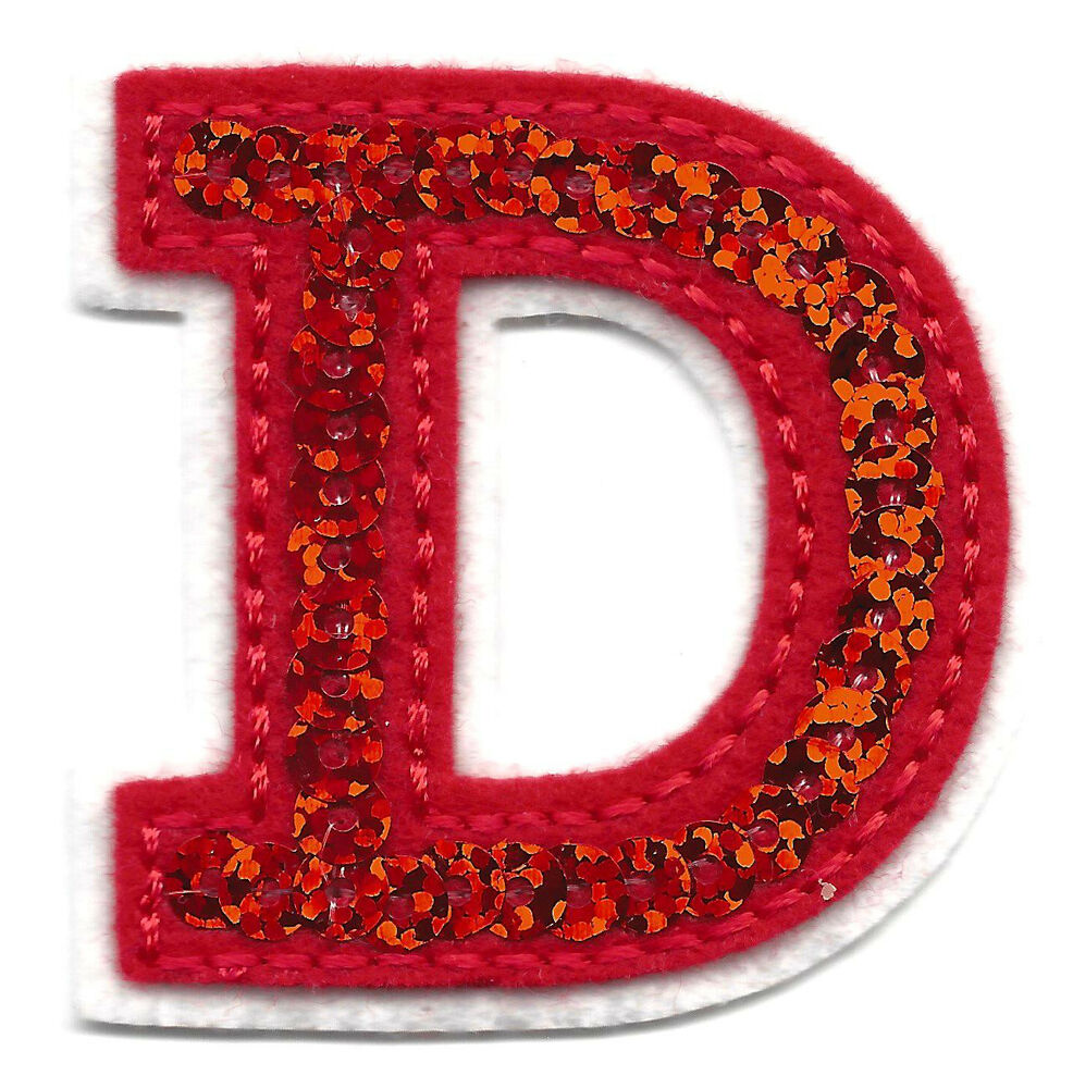 letter applique iron on letters sequin 2 quot letter quot d quot iron on embroidered 8204
