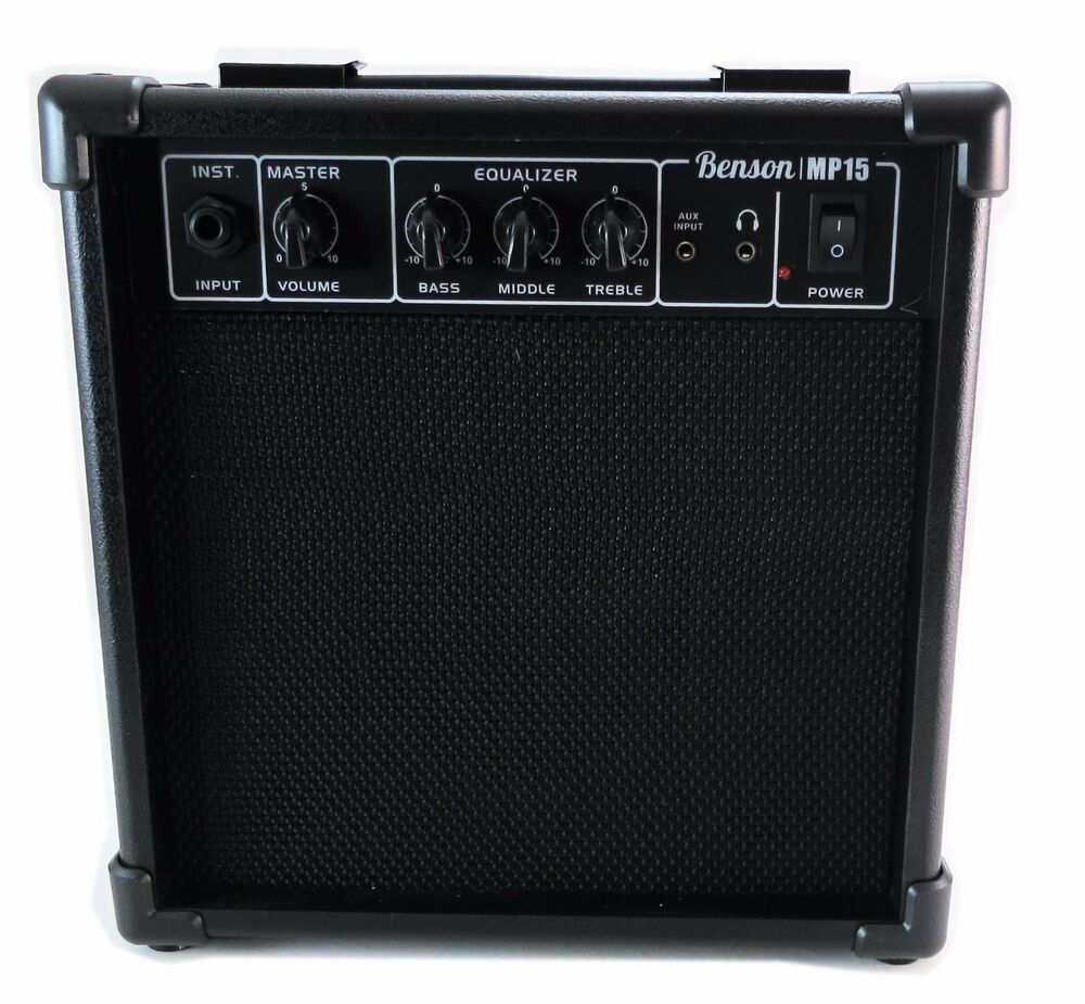 benson 15w electric overdrive guitar bass electronic drum amplifier practise ebay. Black Bedroom Furniture Sets. Home Design Ideas