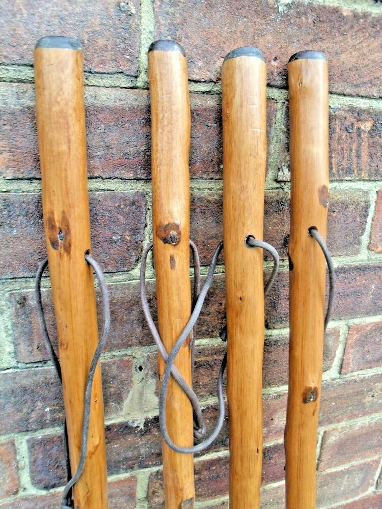 Large Hiking Walking Stick Cane Solid Thick Chestnut Wood