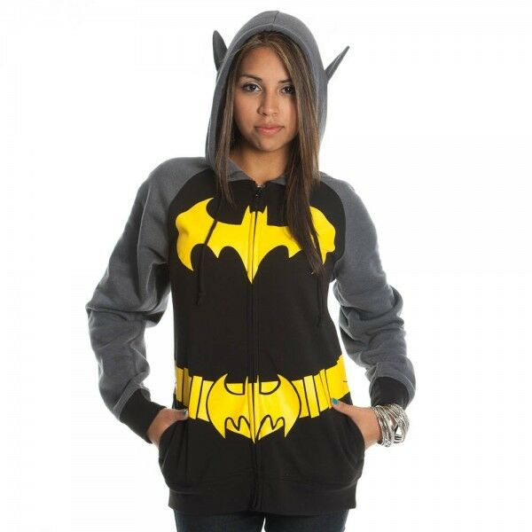 Batman All View Zip Hooded Sweatshirt Find this Pin and more on Nerding Out by Ashleah Chainey. Batman fans have a new hoodie to wear. The Batman All View Men's Zip Hooded Sweatshirt makes you look like the Caped Crusader from both sides.