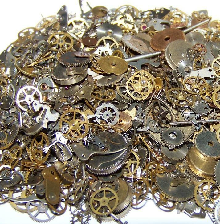 Antique Wheels And Gears : Oz g steampunk old vintage watch parts gears cogs