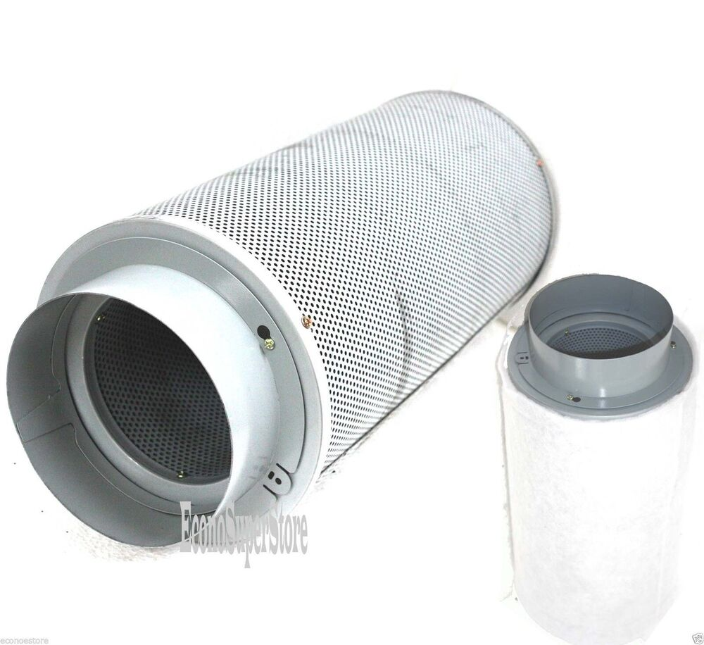 """Lot Of Two 6"""" Inch Inline Exhaust Air Carbon Filter Odor"""