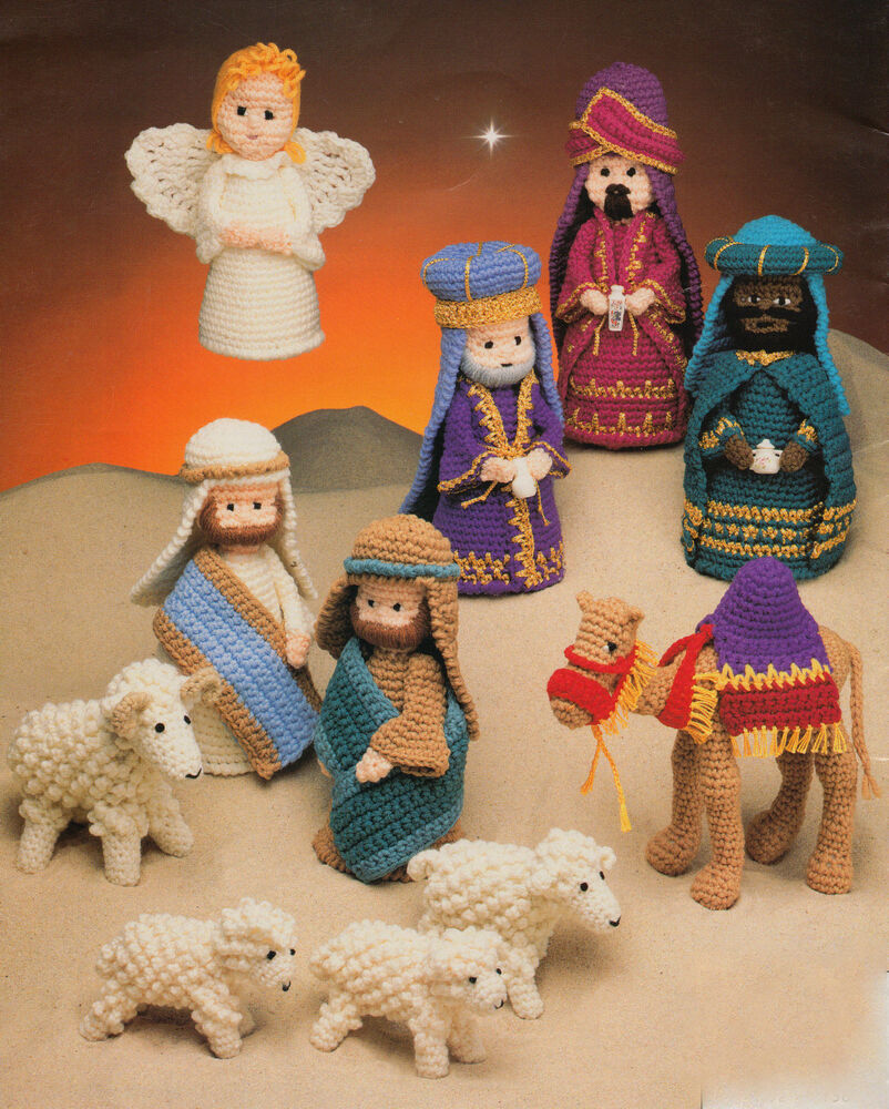 Nativity Set Crochet Pattern Donkey Cow Sheep ~ All the Gang even a Camel ! ...