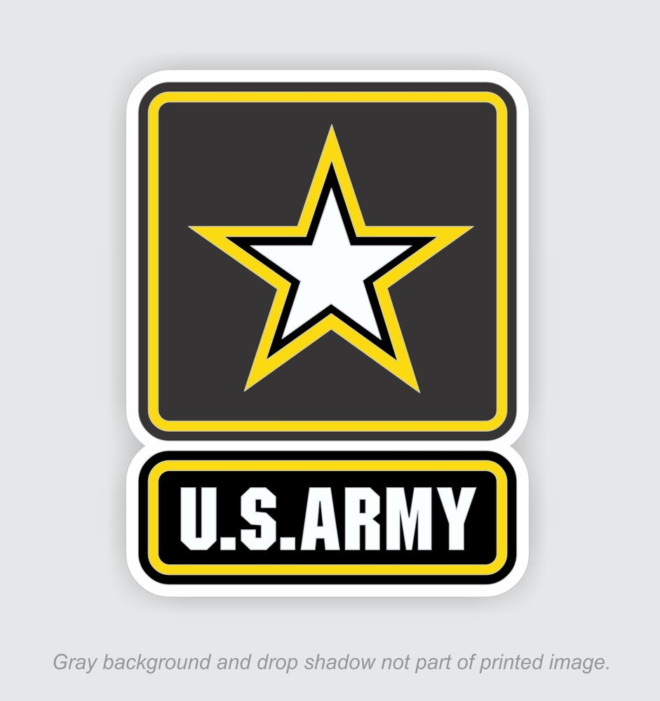 us army window decals vinyl stickers military embled. Black Bedroom Furniture Sets. Home Design Ideas