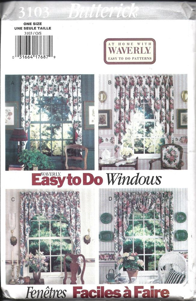 Uncut Butterick Vintage Sewing Pattern Waverly Easy Window