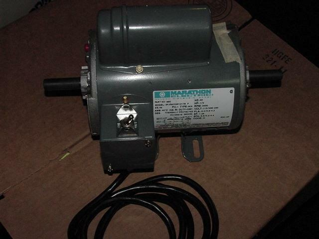 Marathon 3pj56c34d1217b 880 1 2 hp electric motor 115 208 for One horsepower electric motor