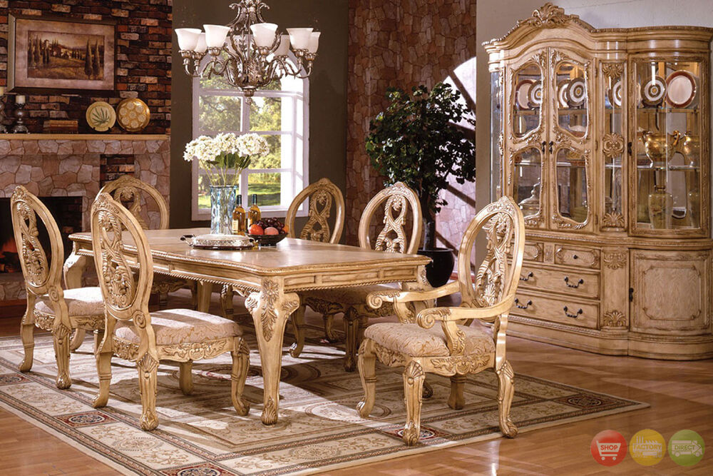 tuscany traditional formal 7 pc dining room set table