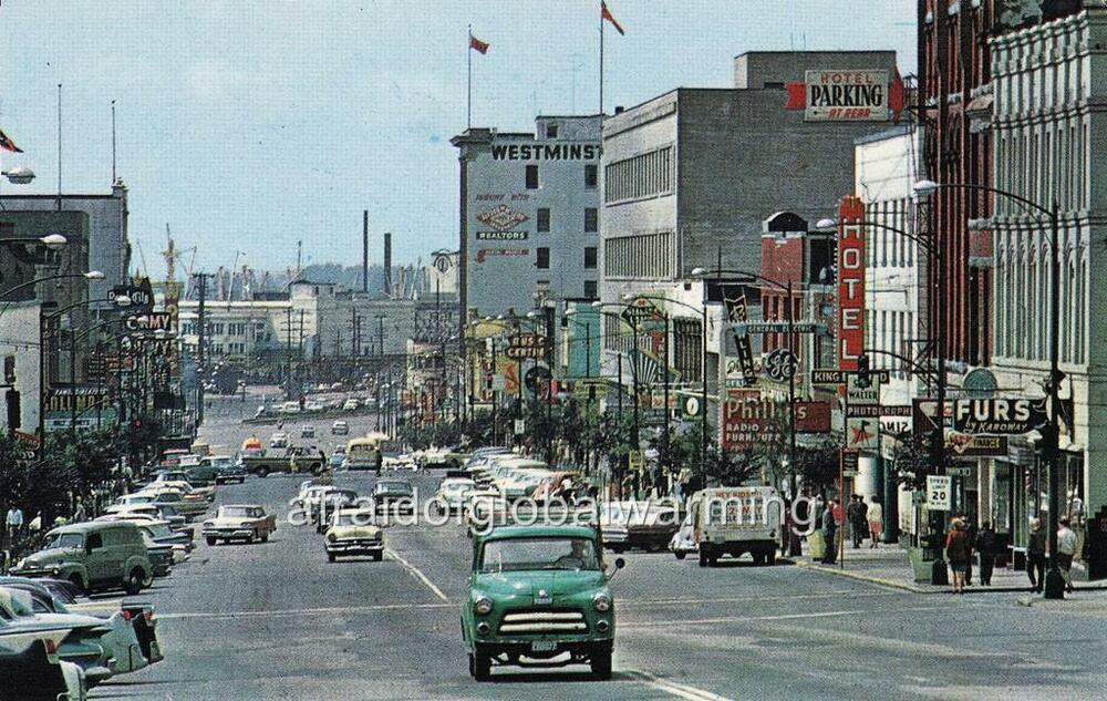 New Westminster (BC) Canada  city photos : Photo CA 1961 New Westminster BC Canada Columbia Street Autos | eBay