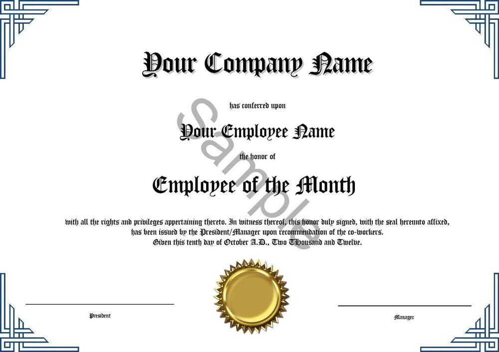 It's just a graphic of Delicate Printable Employee of the Month Certificates