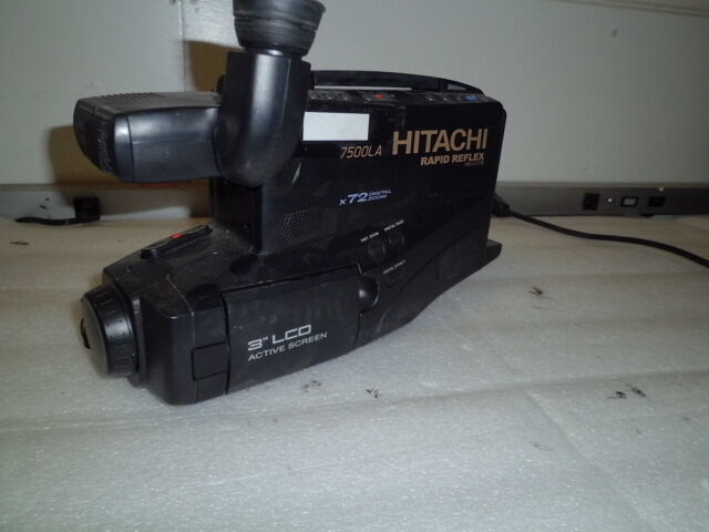 Hitachi 7500la Rapid Reflex 16bit 72x Digital Zoom Camcorder For Parts Or Repair 50585222571