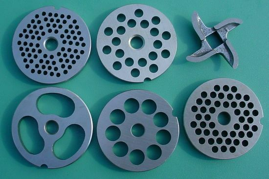 5 Stainless Steel Meat Grinder Plates Knife Stuffer Plate