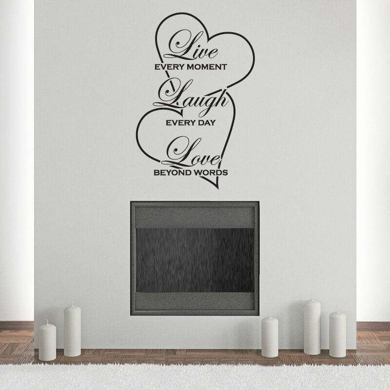 Live laugh love wall sticker quote art decor decal modern for Live laugh love wall art