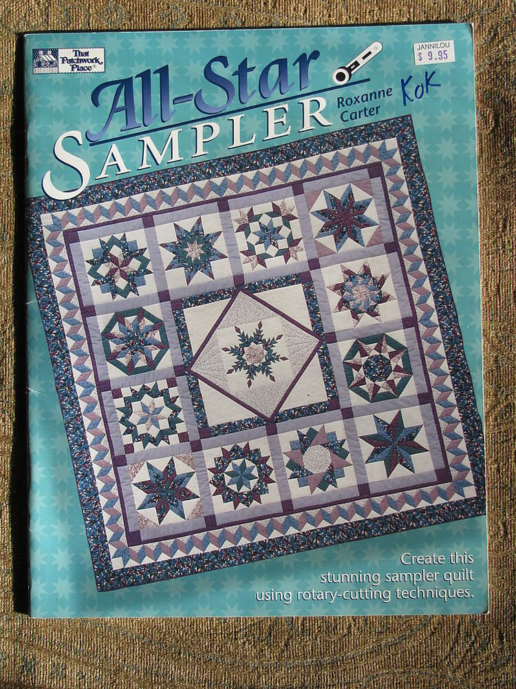 That patchwork place quilt pattern book all star sampler for Patchwork quilt book