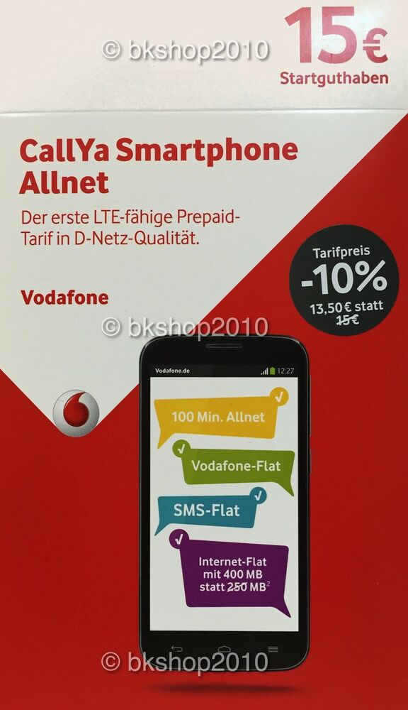 vodafone d2 callya sim prepaid sim karte smartphone allnet ebay. Black Bedroom Furniture Sets. Home Design Ideas