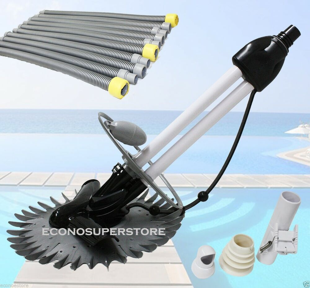 Inground Automatic Swimming Pool Vacuum Cleaner Hover Wall Climb W 33ft Hoses Ebay