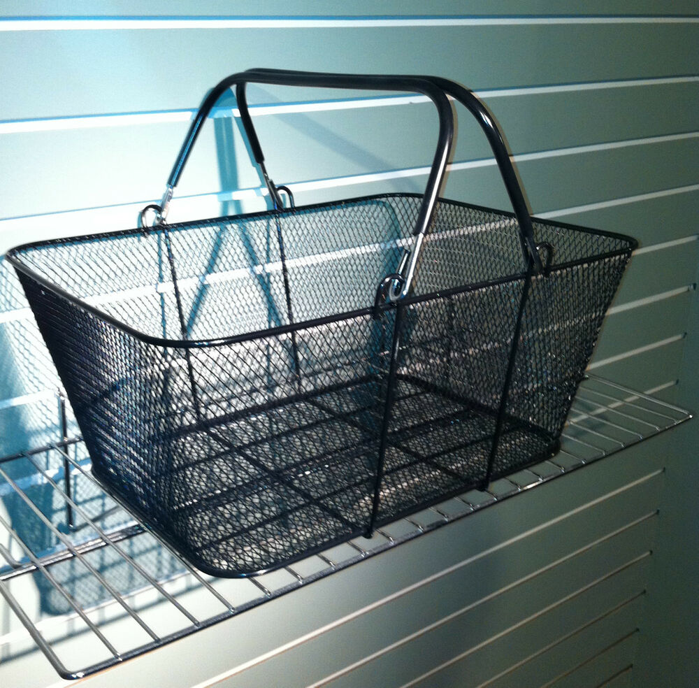 Black Wire Mesh Store Shopping Baskets W X D X  H Lot Of