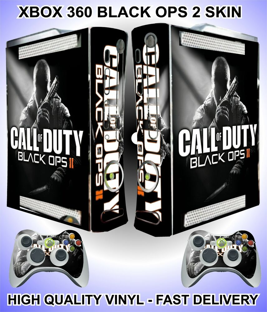 xbox 360 cod black ops 2 console sticker skin graphics 2. Black Bedroom Furniture Sets. Home Design Ideas