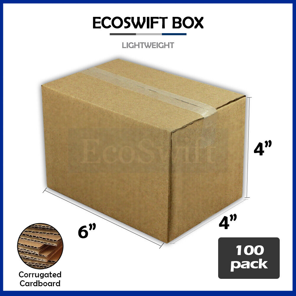 100 6x4x4 cardboard packing mailing moving shipping boxes. Black Bedroom Furniture Sets. Home Design Ideas