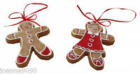GISELA GRAHAM GINGERBREAD MAN FIGURE CHRISTMAS TREE DECORATION ORNAMENT HANGER