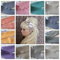 SATIN BENDY WIRED WIRE HAIR WRAP SCARF HEAD BAND 50'S 40'S VINTAGE STYLE PALE