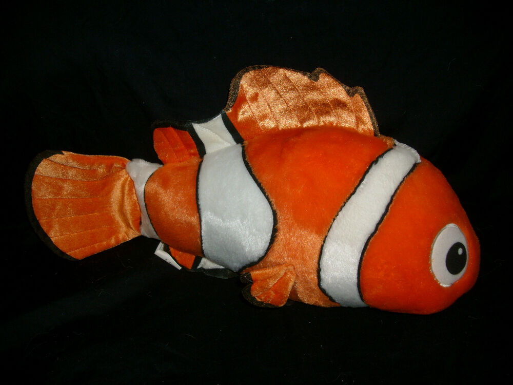16 big finding nemo disney store gold clown fish stuffed for Fish stuffed animal