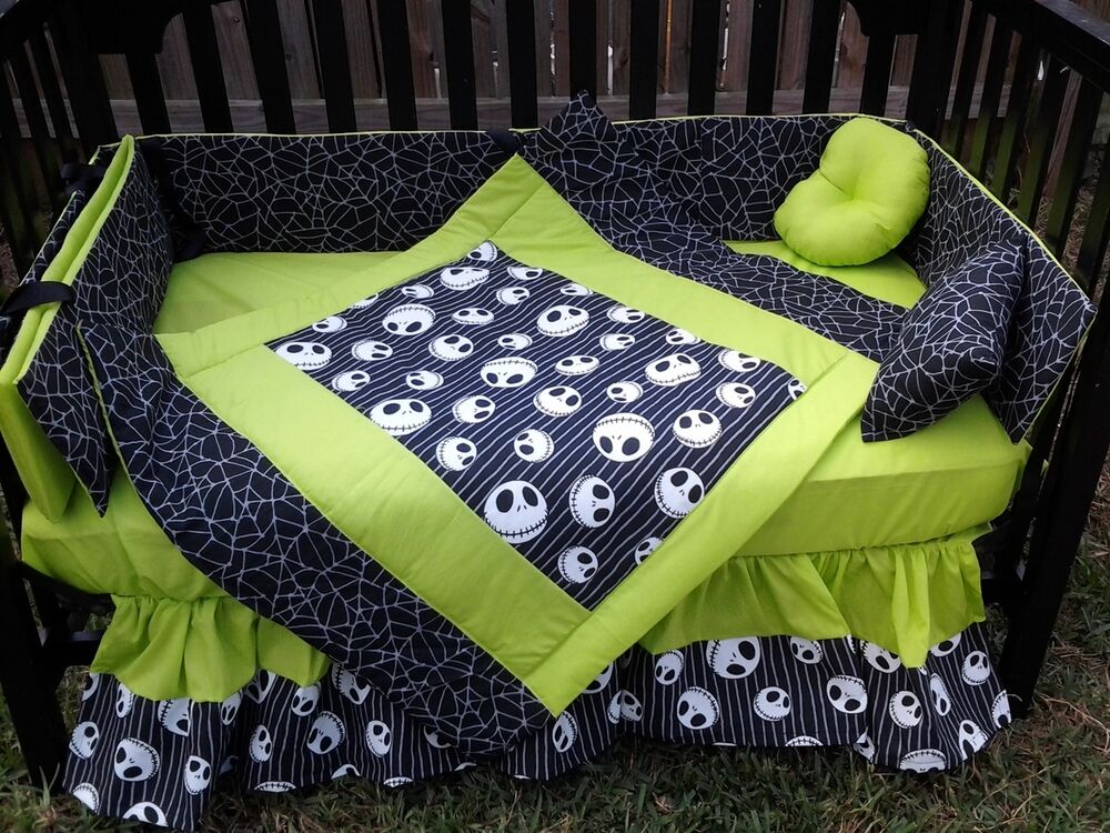 nightmare before christmas bed sheets new crib bedding set ...