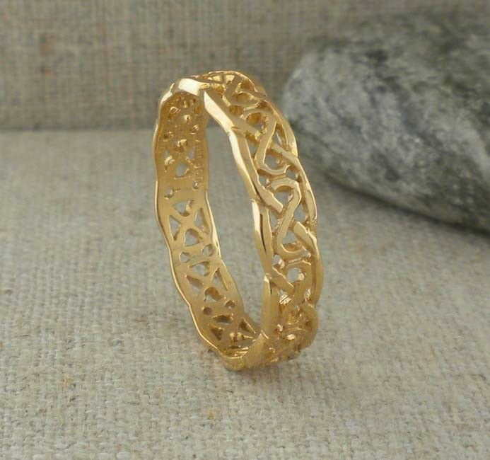 14k yellow celtic knot wedding ring made size 12 5