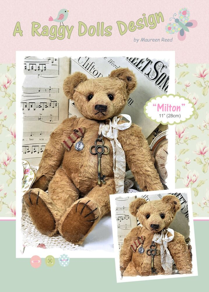 Milton vintage bear sewing craft pattern artist bear for Crafts that sell on ebay