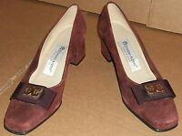 Etienne Aigner Bryant Brown Suede Womens Pumps High Heels Size 6 M new